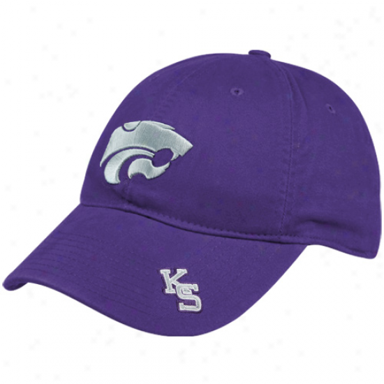Nike Kansas State Wildcats Purple Heritage 86 Washed Logo Swoosh Flex Hat