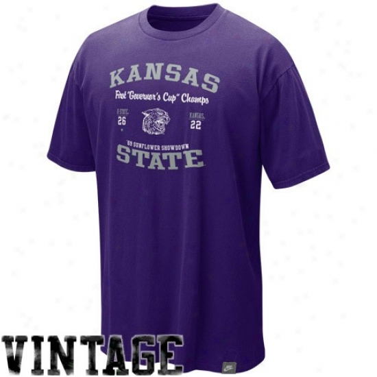 Nike Kansas State Wildcats Purple In-the-books College Vault Organic Washed T-shirt