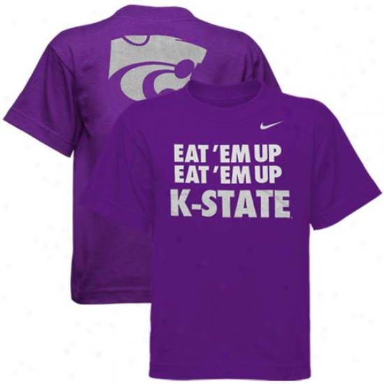 Nike Kansas State Wildcats Youth T-shirt - Purple