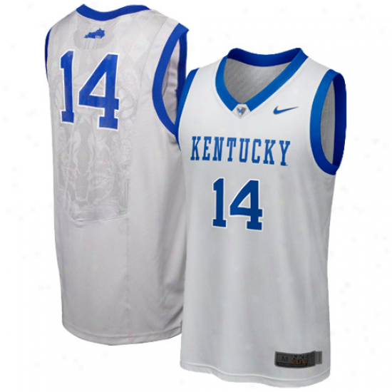 Nike Kentucky Wildcats #14 Elite Replica Aerographic Basketball Jersey - Silver