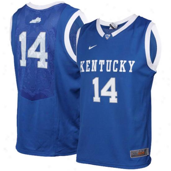 Nike Kentucky Wildcats #14 Youth Elite Replica Basketball Jersey - Royal Blue