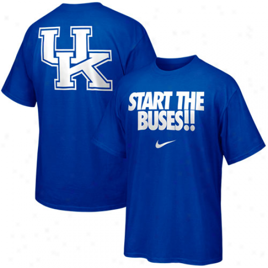 Nike Kentucky Wildcats Campus Roar T-shirt - Royal Blue