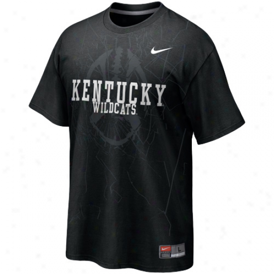 Nike Kentcky Wildcats Football Practice T-shirt - Black