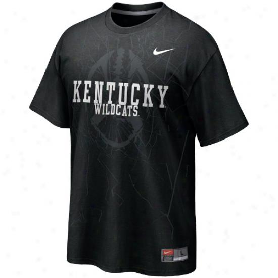 Nike Kentcky Wildcats Football Practice T-shirt - Black