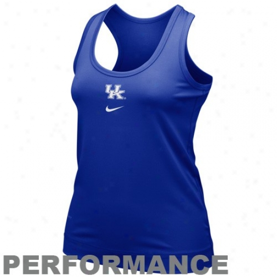 Nike Kentucky Wildcats Ladies Royal Blue Nikefit Racerback Performance Cistern Top