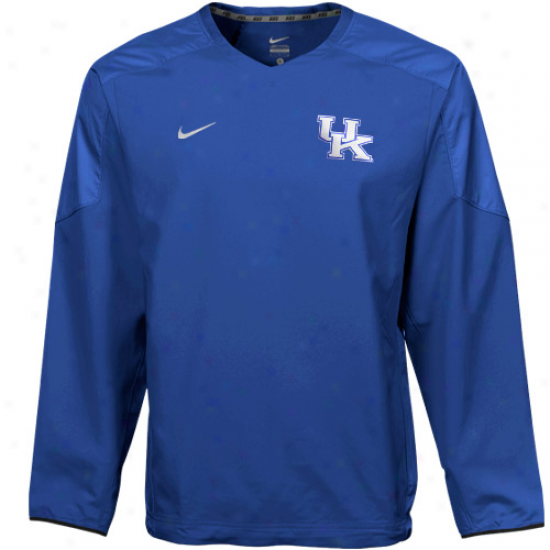 Nike Kentucky Wildcats Royal Blue Acceleration V-neck Pullover Windshirt