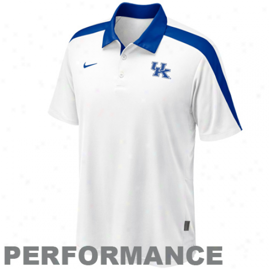 Nike Kentucky Widcats White Coaches Hot Route Acting Polo
