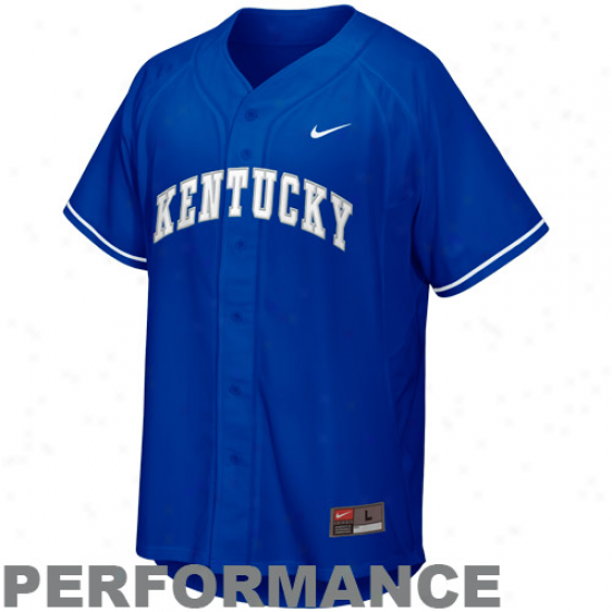 Nike Kentucky Wildcats Youth Replica Baseball Jersey - Roysl Blue