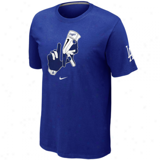 Nike L.a. Dodgers Local T-shirt - Royal Blue