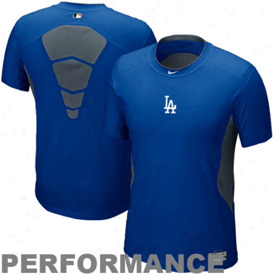 Nik eL.a. Dodgers Pro Combat Hypercool Performance Top - Royal Blue