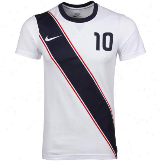 Nike Landon Donovan Usa #10 Franchise Fit Player Ofganic T-shirt - White