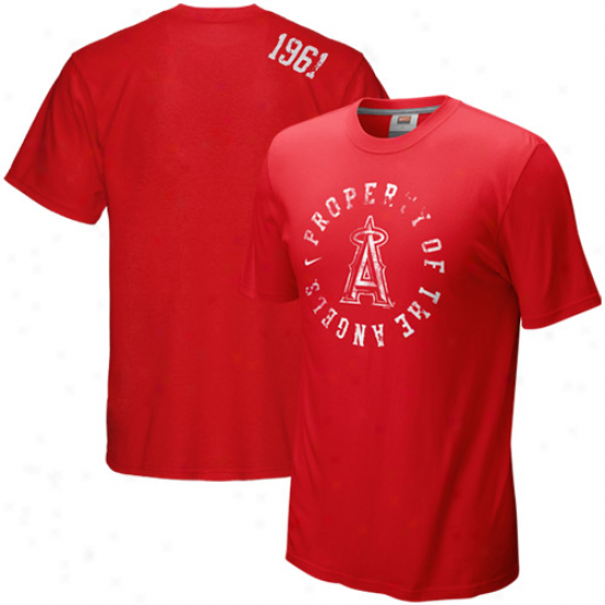 Nike Los Angeles Angels Of Anaheim Red Around The Horn T-shirt