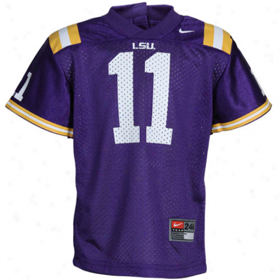 Nike Lsu Tigers #11 Infant Replica Football Jersey - Purple