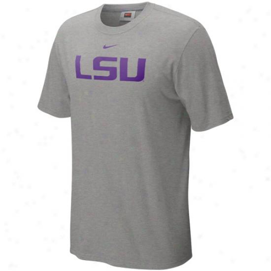 Nike Lsu Tigers Classic Logo T-shirt - Ash