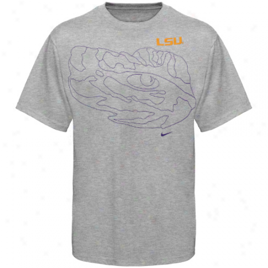 Nike Lsu Tigers Youth Graphic Outline T-shirt - Ash