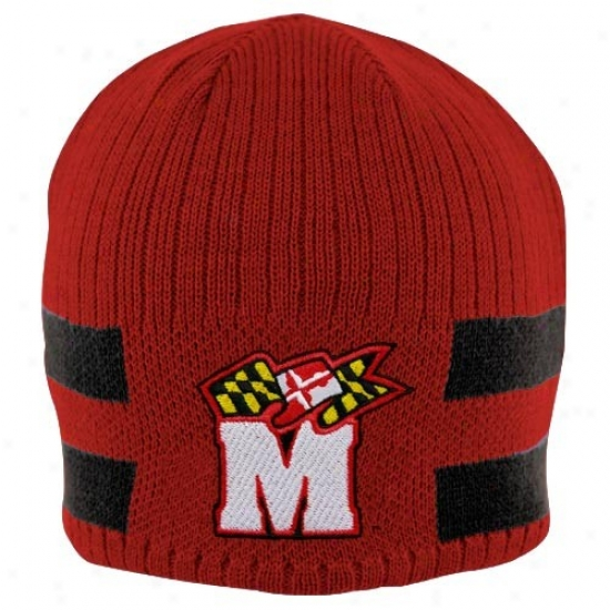 Nike Maryland Terrapins Youth Red-black Reversble Knit Beanie