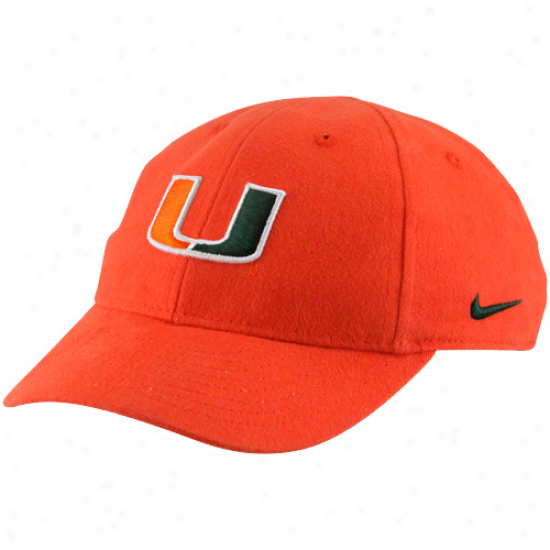 Nike Miami Hurricanes Infant Orange Classic Adjustabel Hat