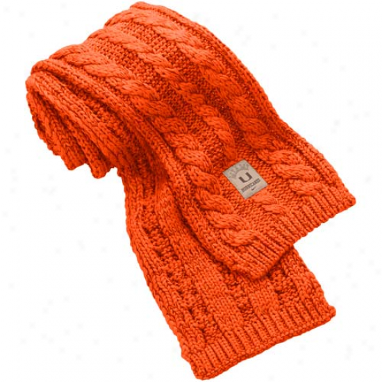Nike Miami Hurricanes Ladies Orange Woven Knit Scarf