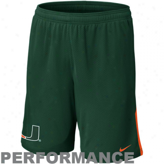Nike Miami Hurricanes Monster Mesh Performance Shorts - Green