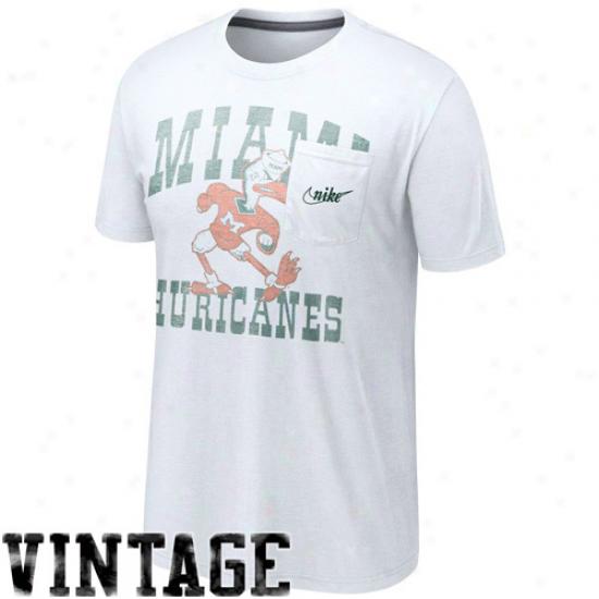 Nike Miami Hurricanes Vault Poceky Tri-blend T-sjirt - White