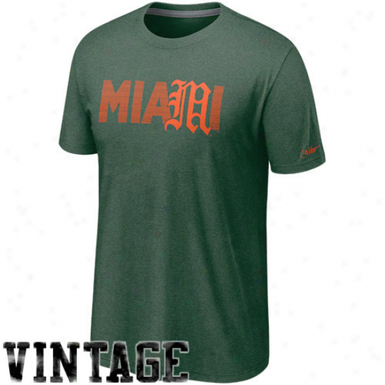 Nike Miami Hurricanes Vault Vintage Heathered T-shirt - Green