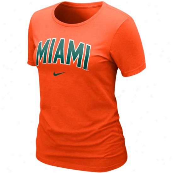 Nike Miami Hurricanes Women's Vault Crew T-shirt - Orange