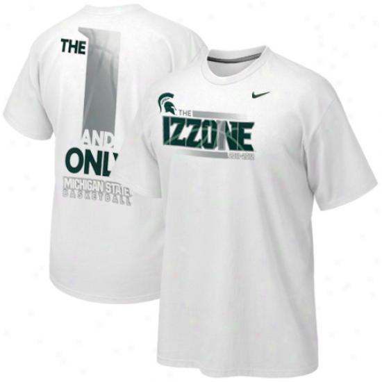 Nike Michigan State Spartans 2011-2012 Izzone T-shirt - White
