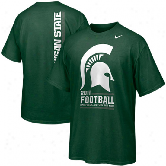Nike Michigan State Spartans 2011 Football One Focus Student Body T-shirt - Green