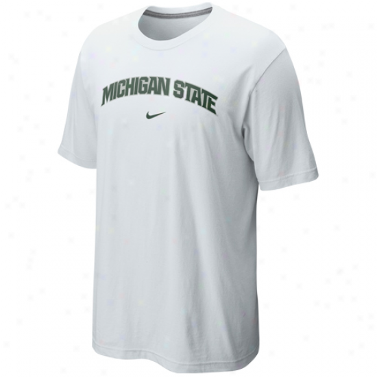 Nike Michigan State Spartans Arch T-shirt - White