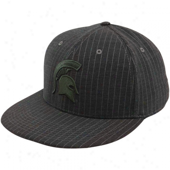 Nike Michigan State Spartans Charcoal Collegiate Pinstripe Flat Bill Flex Hat