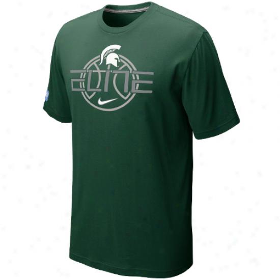 Nike Michigan State Spartans Elite Focus T-shirt - Green