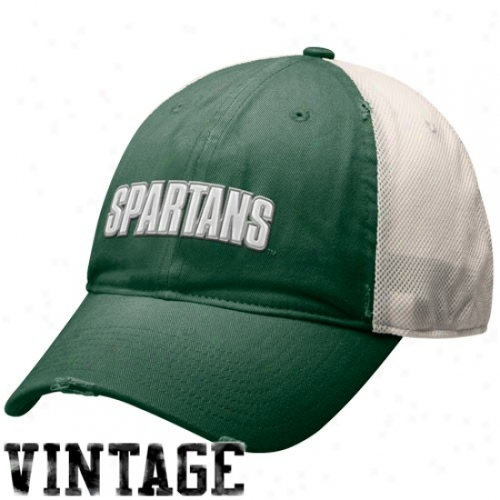 Nike Michigan State Spartans Green Heritage 86 Mesh Flex Swoosh Hat