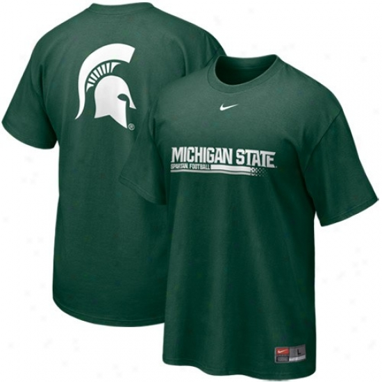 Nike Michigan State Spartans Green Practice T-shirt
