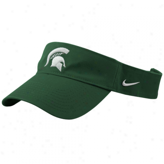 Nike Michigan State Spartans Green Stadium Adjustable Visor