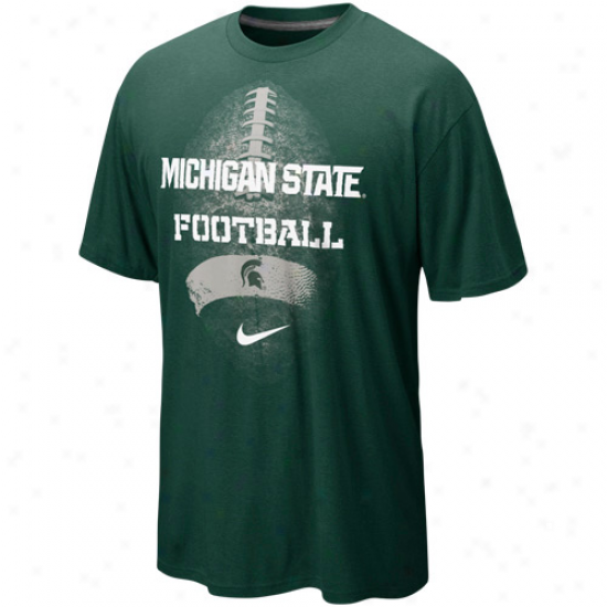 Nike Michigan State Spartane Seasonal Football Ii Heathered T-shirt - Green