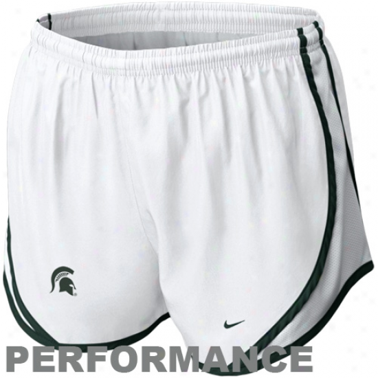 Nike Michigan State Spartans Women's Tempo Performance Shorts - White