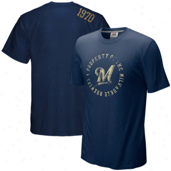Nike Milwaukee Brewers Ships of war Blue Around The Horn T-shirt