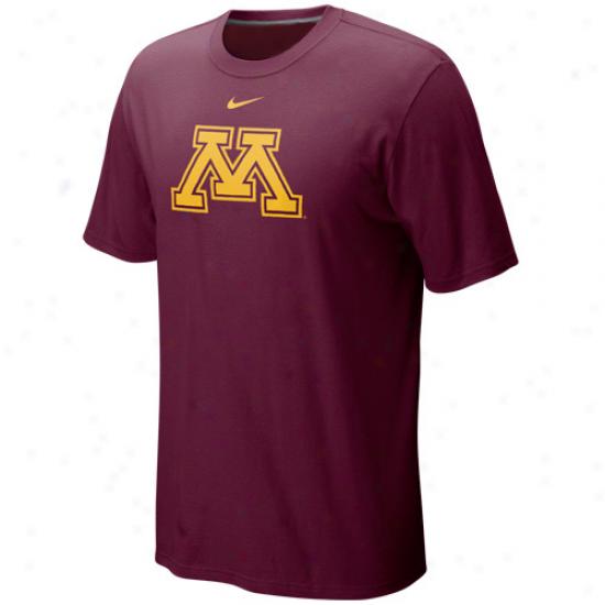 Nike Minnesota Golden Gophers Classic Logo T-shirt - Maroon