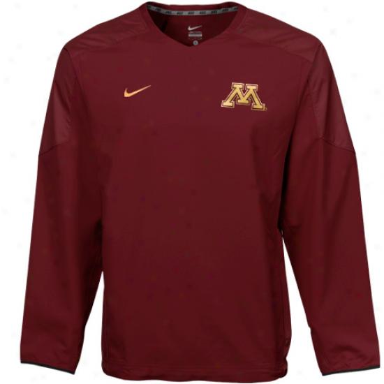 Nike Minnesota Golden Gophers Maroon Acceleration V-neck Pullover Windshirt