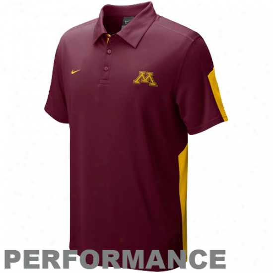 Nike Minnesota Golden Gophers Maroon Sphere Performance Polo