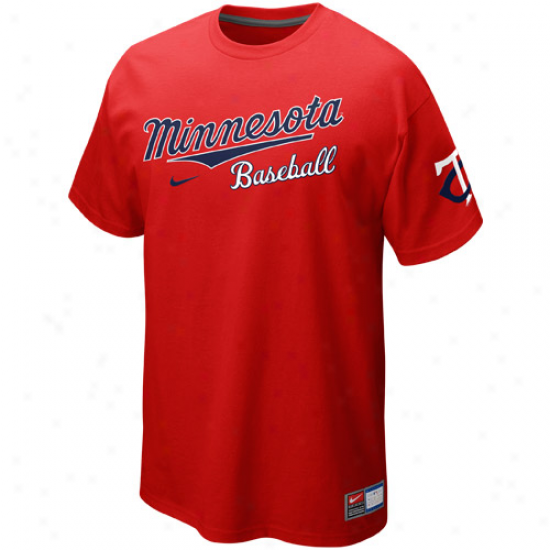 Nike Minnesota Twins Away Practice Premium T-shirt - Red