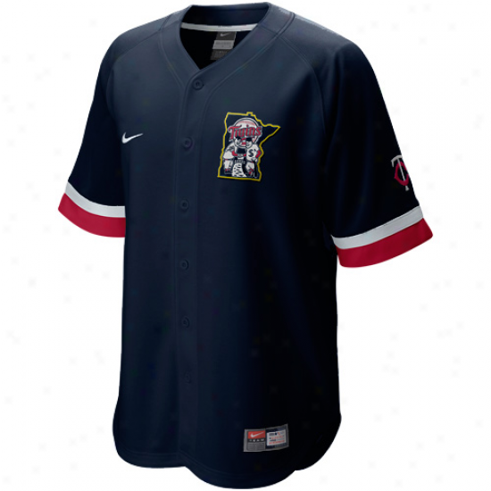 Nike Minnesota Twins Baseball Fann Jersey-navy Blue