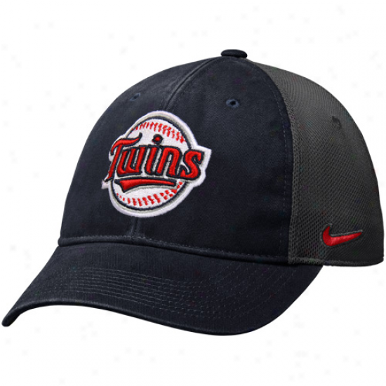 Nike Minnesota Twins Legacy 91 Swoosh Flex Hat - Navy Blue