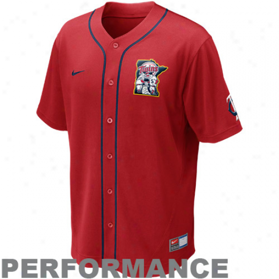 Nike Minnesota Twins Mlb Performance Jersey - Red