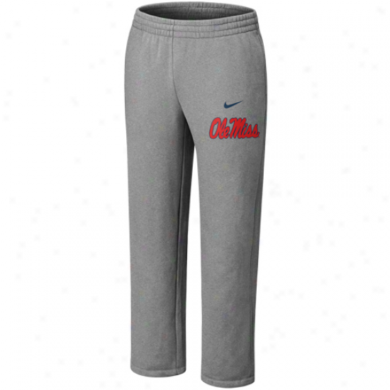 Nike Mississippi Rebels Ash Classic Fleece Pants