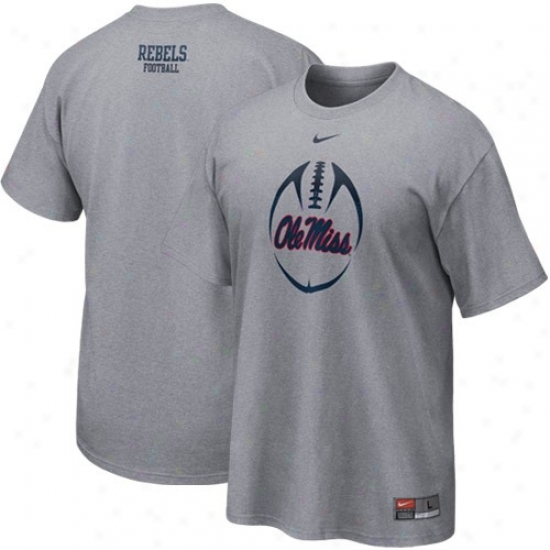 Nike Mississippi Rebels Ash Team Issue T-shirt
