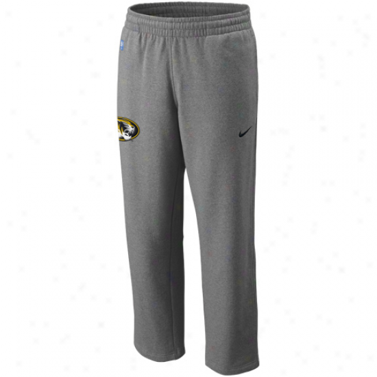Nike Missouri Tigers Ash Basketball Practice Strip Pants