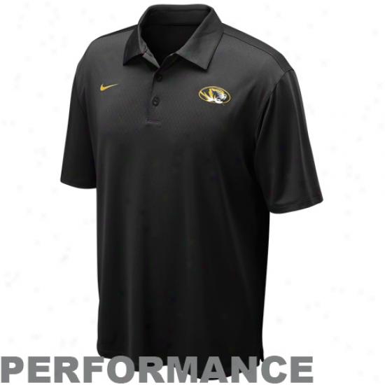 Nike Missouri Tihers Mourning Coaches Basketball Performance Polo