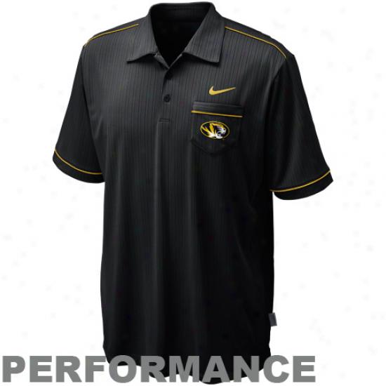 Nike Missouri Tigers Black Conference Performance Polo