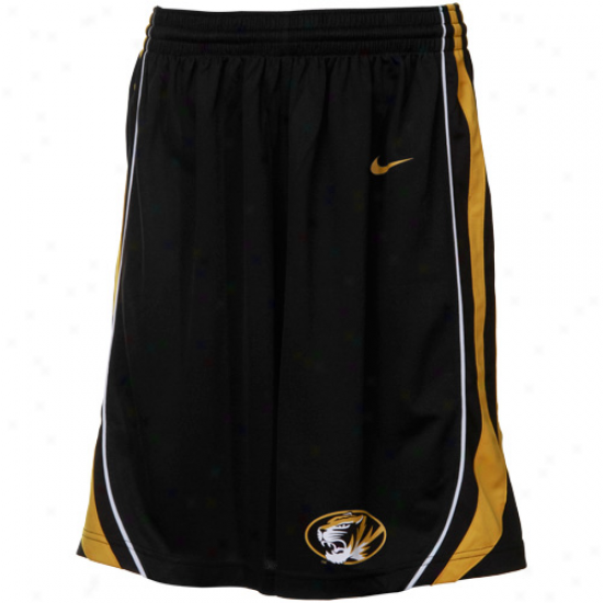 Nike Missouri Tigers Black Replica Basketball Shorts